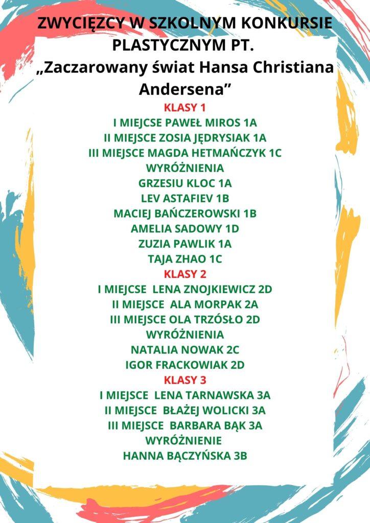lista laureatów konkursu
